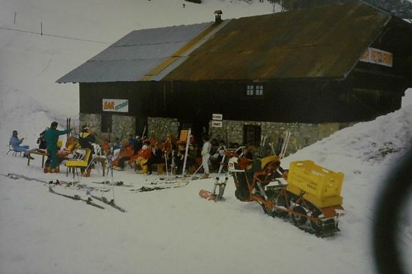 1986 - challenge ski et motoski maison pour le ravitailllement