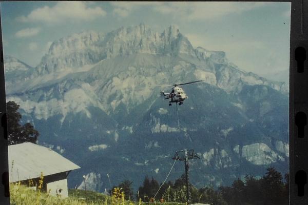 1984 - construction télésiège de Burzier