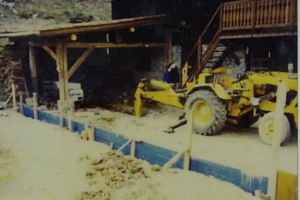 1996 - excavation de la terrasse