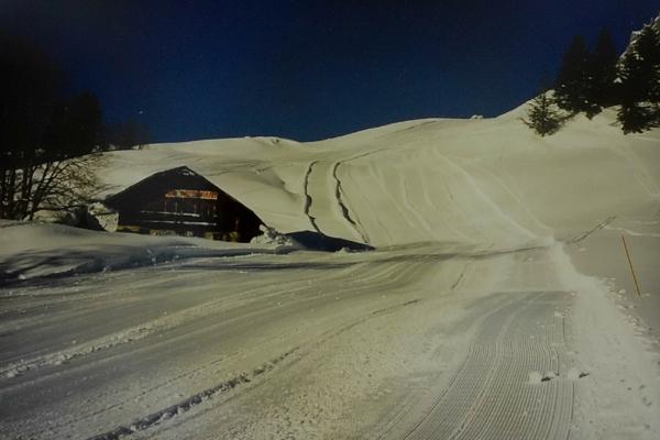 1986 - piste de ski entourant le refuge 86