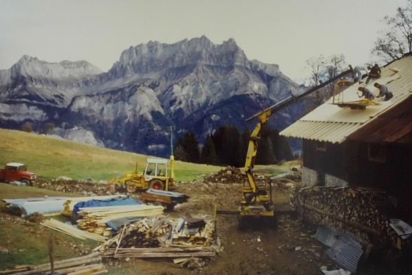 1984 - rénovation du toit