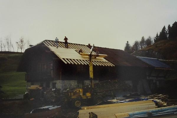 1984 - rénovation toit origine