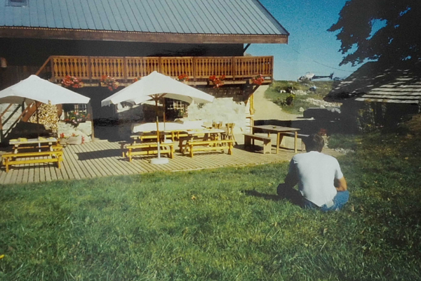 1995 - première terrasse bois