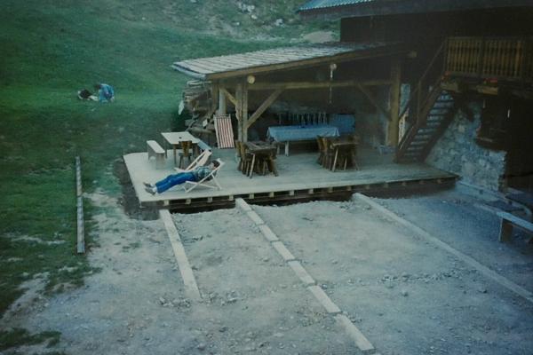 1986 - terrasse en cours